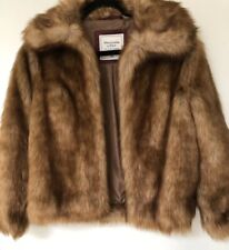 Abercrombie & Fitch Faux Fur Jacket - NWT- Size XS - Free Shipping
