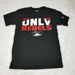 Champion UNLV Rebels Mens T Shirt Small S Black Red White Short Sleeve Adult