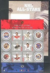 CANADA 2001, ICE HOCKEY NHL - ALL - STAR GAME, Scott 1885 in P.O. folder, MNH