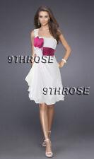 IMPART YOUR TASTE! ONE SHOULDER COCKTAIL/PARTY SHORT DRESS PINK & WHITE AU8/US6