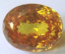 23x18.5 mm 64.5 cts oval Orange Top Russian CZ AAAAA