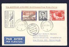 42786) AUA FF Wien - Paris 27.5.58 Brief ab Belgien, EXPO, R!