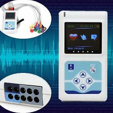 New 12-channel 24 Hours ECG Dynamic ECG EKG Holter Recorder CE FDA
