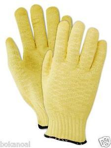 1 Pair size 8 Medium Ansell GoldKnit 70-310 Kriss Cross Glove, Cut Resistant