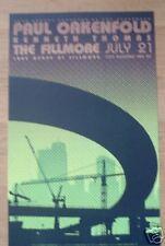 Paul Oakenfold Fillmore Poster Ken Thomas Original Bill Graham F793 Shona Dutta