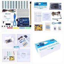 Kit básico de proyecto elegoo uno con tutorial básico y placa compatible UNO R3 W