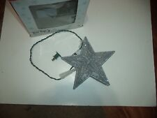 Silver Sparkle Star Tree Top For A Christmas Tree