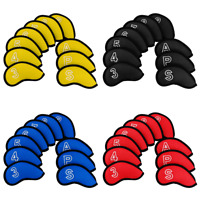 10PCS Golf Head Cover Club Iron Putter Headcovers Set Neoprene for Taylormade