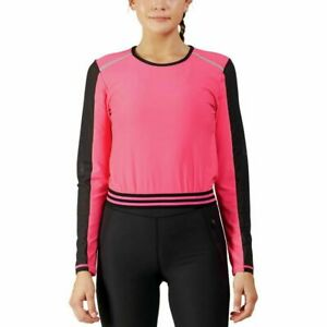WOMENS sizes STRETCH Top WORKOUT Sports FITNESS Yoga ATHLETIC Mesh RUN Gym SHIRT