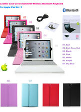 Smart Leather Bluetooth Keyboard For Apple iPad 2✔3✔4✔ Air✔ Mini Flip Case Stand
