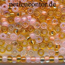 Glasperlen Mix 23 g  rosa gold Silberblatt 2,3 mm  Preciosa Rocailles (AZ1336)