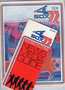 1977 Chicago White Sox Program scorecard (vs. K.C. Royals)  + MEDIA GUIDE