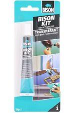 Set Tube Colle Contact Transparante BISON KIT 18g Instantanée Rapide & Puissant