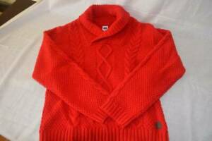 janie and jack boys size 5 red cable knit sweater plaid pants outfit Holiday 18