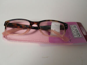 Reading Glasses Readers Choice  MONROE PINK  +1.25 +1.75 +2.50 +3.25 - (#804)