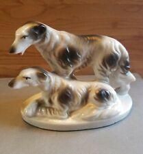 Vintage Russian Wolfhound Borzoi Porcelain Figurine Japan