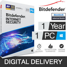 Bitdefender Internet Security 2020 (1PC) Antivirus & VPN Genuine License Windows