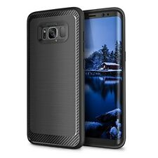 Premium Samsung Galaxy S8+ Hybrid Rugged + Leather Flip Case & Flex Film Protect