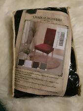 Homluxe (4 pack black) High Stretch Chair Covers Dining Room