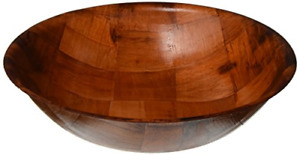Winco WWB-12 Wooden Woven Salad Bowl, 12-Inch, Brown