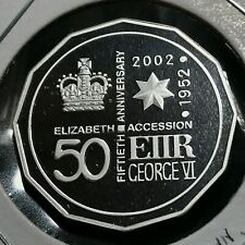 New listing 2002 Australia Silver Queen Elizabeth 50Th Anniv. Proof Brilliant Uncirculated