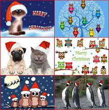 """""""GRACIOSOS NAVIDAD"""": Gracioso Set de Tarjetas Navidad (24 Tarjetas) con Animales"""