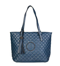 Leather Pebbled Blue Bags & Handbags for Women