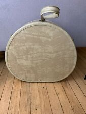 Vintage 40s 50s White Round Samsonite Luggage