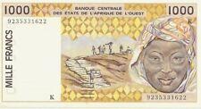 1000 FRANCS AFRIQUE DE L'OUEST 1992 (K Sénégal) UNCIRCULED