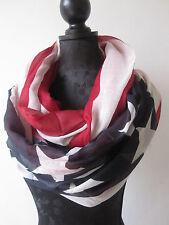 Stars and Stripes Schlauchschal Amerika Flagge Loop Schal Sterne USA Look