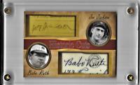 Babe Ruth Joe Jackson Historic Cuts Card