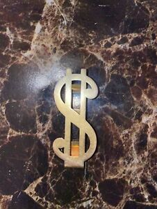 Vintage Swank Gold Metal Money Clip Dollar Sign
