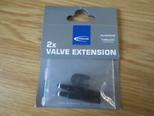 SCHWALBE 2 x VALVE EXTENSION (30mm) Presta Valves - Tubeless - BNIB