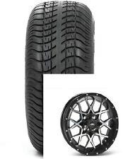 """(4) ITP 14"""" Hurricane Aluminum Alloy Golf Cart Car Rim Wheels & 205-30-14 Tires"""