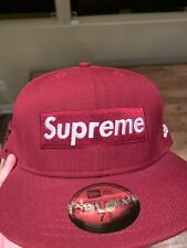 SUPREME x NEW ERA WORLD FAMOUS BOX LOGO FITTED HAT BURGUNDY 7 5/8 2008 NYC