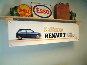 Renault Williams Clio Banner Car Show Workshop Garage Display