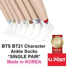 BTS BT21 Bangtan Boys KPOP Character Women's Ankle Socks Made in KOREA