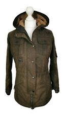 L597 LADIES BARBOUR WINTER FORCE OLIVE WAX PARKA COAT JACKET, UK 8