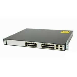 WS-C3750G-24TS-E1U Cisco 3750 Switch CCNA CCNP CCIE