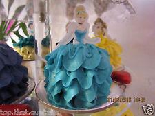 Cinderella Disney Princess half EDIBLE wafer cupcake cake toppers STAND UP