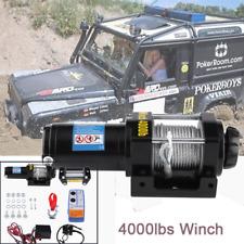 12V 4000lb Treuil électrique de câble en acier de treuil de bateau voiture