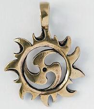 massive keltische Sonnen Triskel Bronze Mittelalter Kraftamulett Sonne Triskele