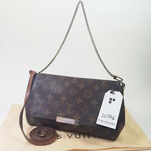 Authentic Louis Vuitton Favorite MM Monogram M40718 Guaranteed Clutch Bag LC726