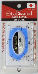 EBISU CARD TYPE POCKET LEVEL BLUE (86x54x5.5mm) ED-CDBL MADE IN JAPAN