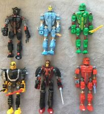 6 LEGO Buildables Bionicles Action Figures Transformers