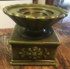 Vintage Royal Haeger Green Pottery Candle Holder Usa Collectible Home Decor