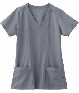 "Jockey Scrubs  Style 2306 V-Neck Detailed Scrub Top in ""Pewter""  Size XL"