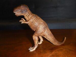 """Schleich 2002 Tyrannosaurus Rex T Rex Brown Prehistoric Dinosaur Figure 4"""""""