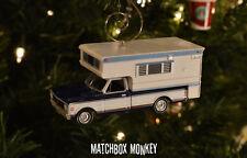 Custom '72 Chevy C20 Cheyenne Camper Vintage Style Blue Chevrolet Truck Ornament