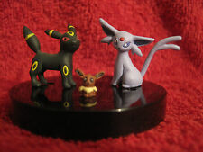 3Pokemon Mini-Figure/Zukan:Espeon+Umbreon+Eevee/gebraucht(Evoli/Psiana/Nachtara)